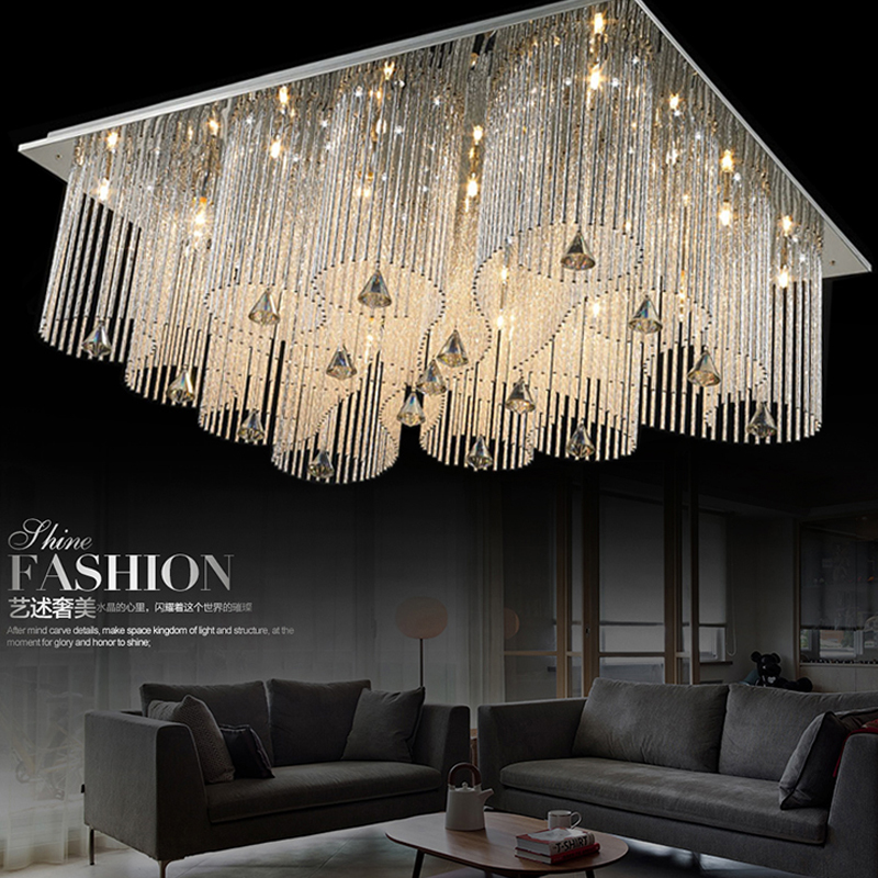 led e14 Crystal Stainless Steel LED Lamp.LED Light.Ceiling Lights.LED Ceiling Light.Ceiling Lamp For Foyer Bedroom Dinning Room