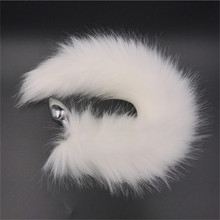 White Fox Tail Anal Toys Plush Silica Gel Plug Sex for Women Man Couple Gay BDSM Toy Cosplay Homosexual