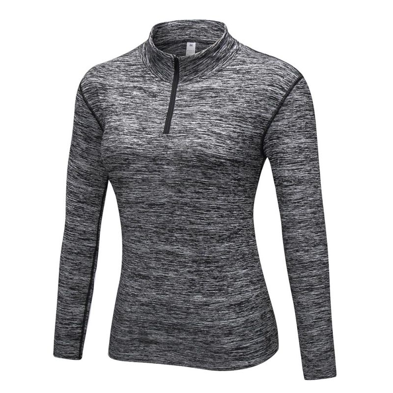 Sport Tops Women Riding Fitness T Shirt Slim Plus Women O-Collar Solid Color Long-sleeved Sports Breathable Quick Dry T Shirt