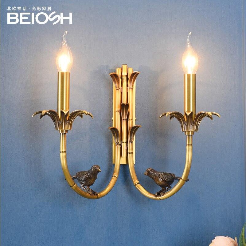 Applique en laiton Design barcelone/lumières d'oiseaux/hauteur 30 cm