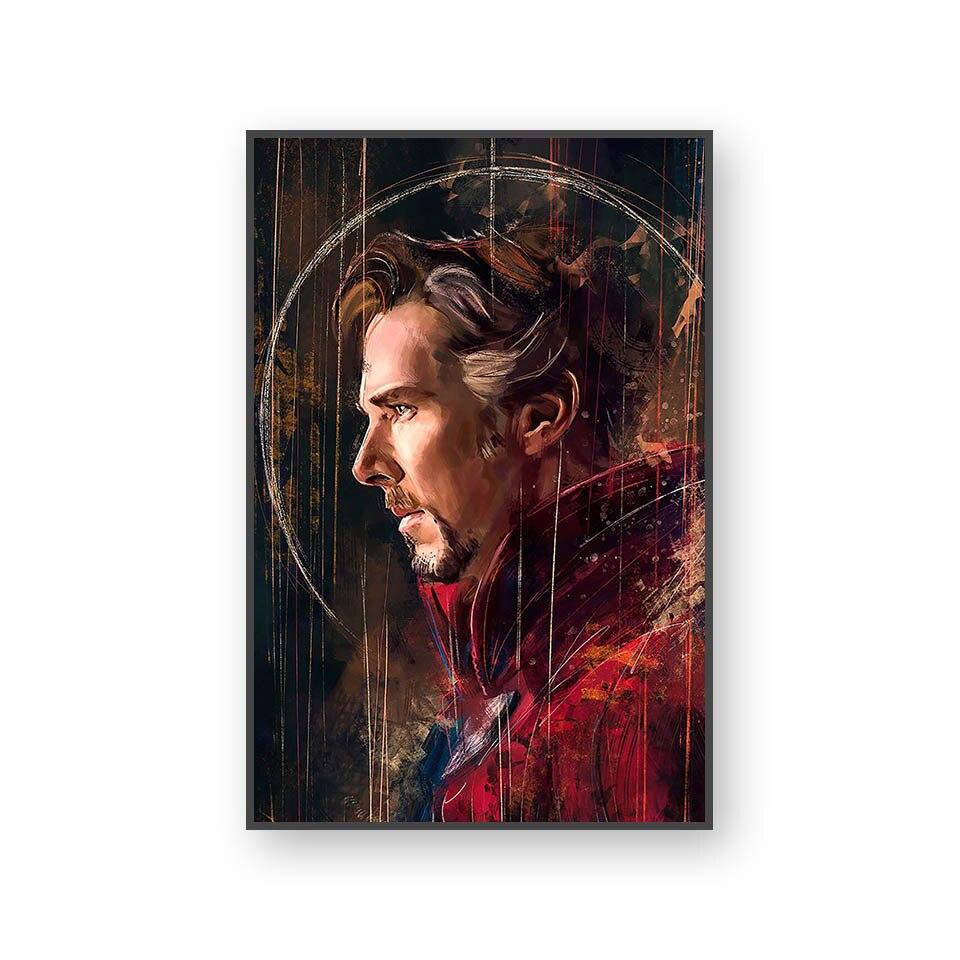 Настенный художественный холст с печатью постера, настенные картины для домашнего декора, Марвел, Мстители, фильм супергерой, Дэдпул, Железный Человек-паук, Локи - Цвет: L394N