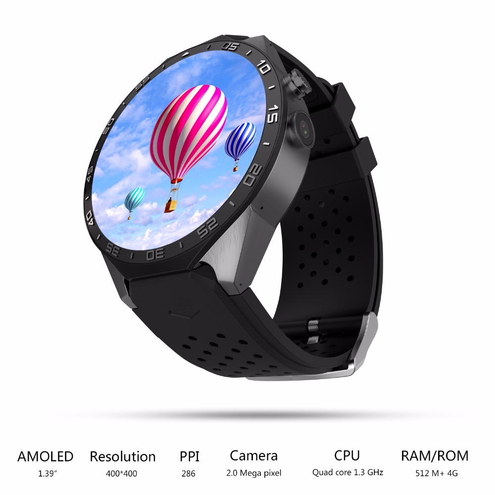 DHL Fast Shipment 3 7 Days New Arrival KW88 Android 5 1 Bluetooth SmartWatch Phone 1