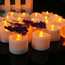 1 шт. электронный светодиодный светильник-свеча без дыма, беспламенная Свеча для украшения свадьбы, дня рождения, Прямая поставка