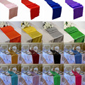 "BITFLY 20 pieces/lot 30*275cm Satin Table Runners 12"" x 108"" Wedding Party Decorations 21 colors"