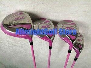 Image 2 - 여자 골프 클럽 maruman rz 골프 클럽 드라이버 + 페어웨이 우드 + 아이언 + 퍼터 흑연 골프 샤프트 헤드 커버 포함