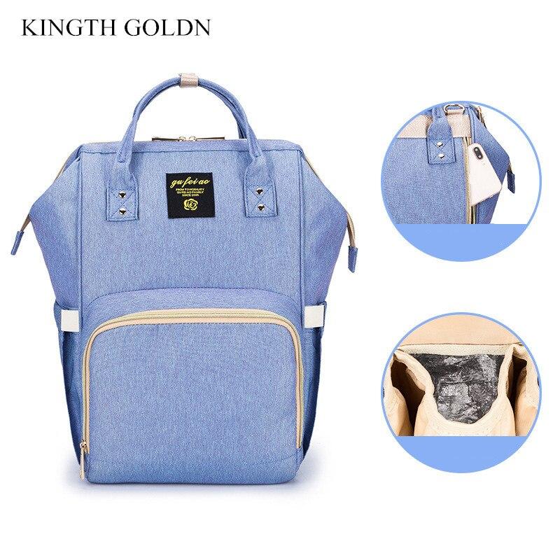 KINGTH GOLDN большой Ёмкость мамы путешествия коляска сумка Для женщин подгузник рюкзак сумка для ухода за ребенком детские вещи детские сумки