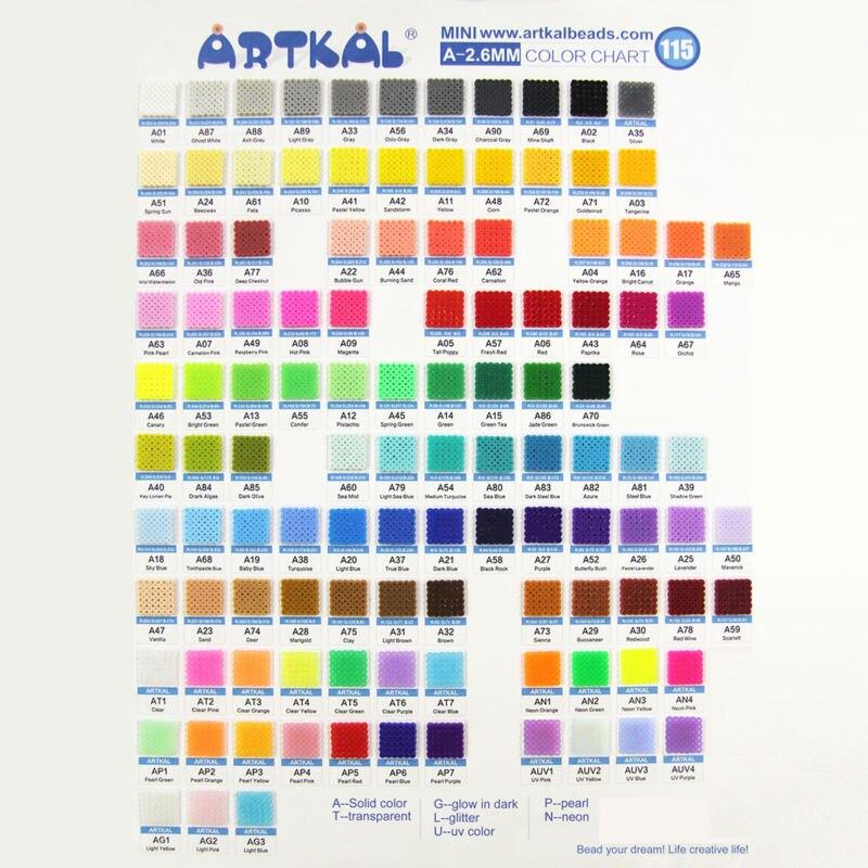 36 cuentas Artkal exclusivas cuentas blandas caja Set Perler A 2.6mm Mini cuentas juguetes educativos CA36 - 5