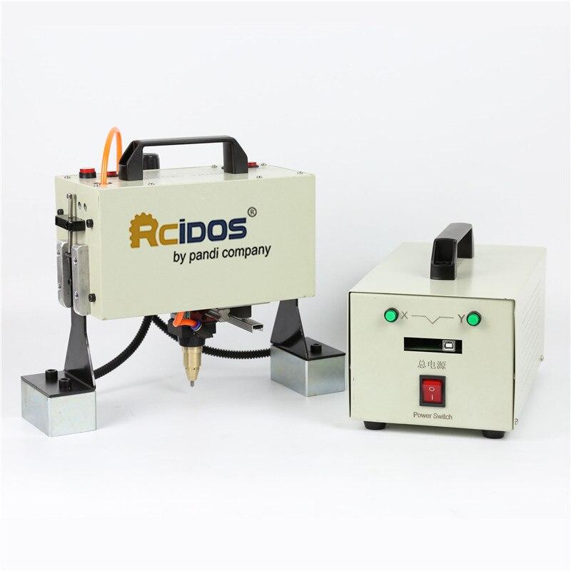 QD05 RCIDOS Handheld pneumatic marking machine,Portable industrial tag machine,metal parts engraving machine(range 120*50mm)