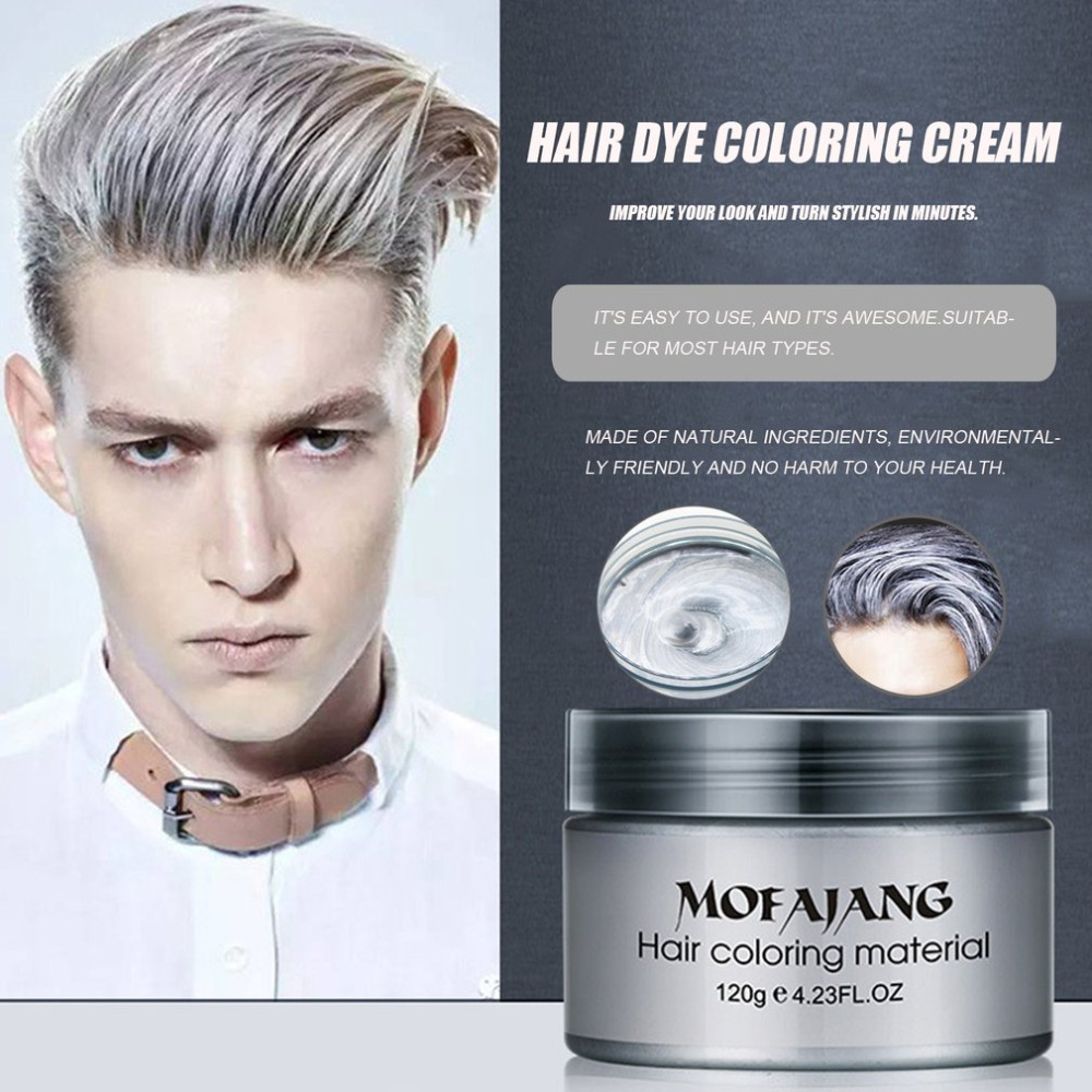 Mofajang Salon Hair Styling Pomade Silver Ash Grandma Grey Hair