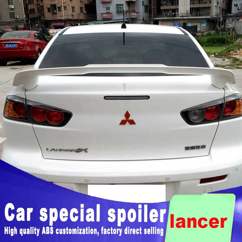 New design For Mitsubishi Motors lancer 2006 to 2018 bright spoiler high quality ABS material primer or DIY color paint lancerNew design For Mitsubishi Motors lancer 2006 to 2018 bright spoiler high quality ABS material primer or DIY color paint lancer