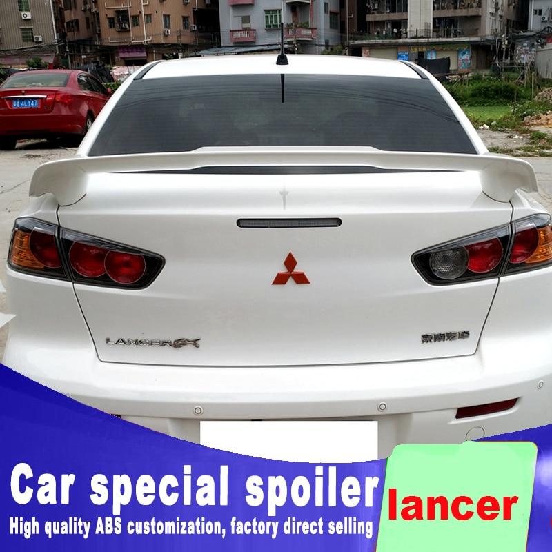 New design For Mitsubishi Motors lancer 2006 to 2018 bright spoiler high quality ABS material primer or DIY color paint lancer