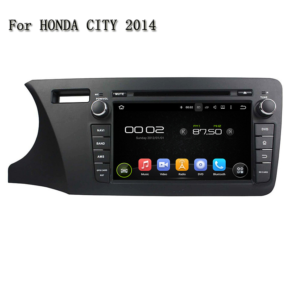 8 Android 5.1.1 Quad Core Car GPS Navigation Car DVD Player For Honda City 2014 Support  ...