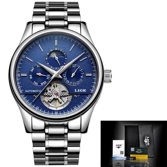Hot Discount #4f4f77 Relogio Masculino LIGE Men's Watches