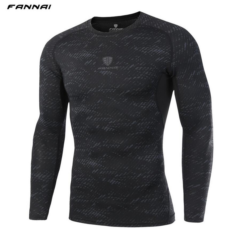 Compression Skin Tight Shirts Men Bodybuilding t-shirt Quick dry Gym Fitness Running jogging Male Long sleeves tee tops clothes casual round neck stripes pattern black long sleeves sweat dry tight t shirt for men