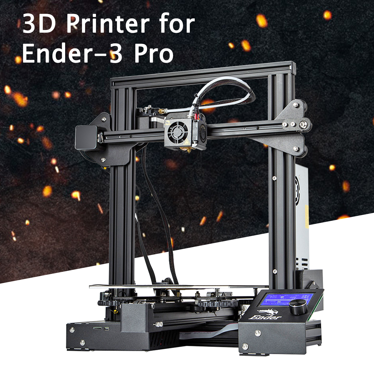 Ender-3 Pro V-slot Pru sa I3 bricolage 3D kit imprimante 220x220x250mm Impression Taille Avec plate-Forme magnétique Autocollant