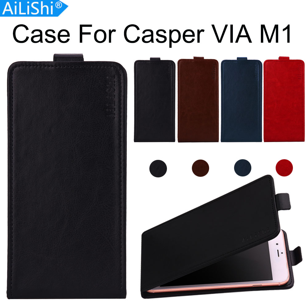 AiLiShi Factory Direct! Case For Casper VIA M1 Luxury Flip PU Leather Case Exclusive 100% Special Phone Cover Skin+Tracking image