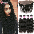 Peruvian Deep Wave With Frontal Closure Ear To Ear Lace Frontal Closure With Bundles 4 Bundles Peruvian Deep Wave With Closure
