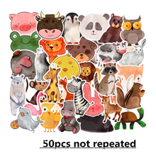 50PCS Ink cartoon animal stickers graffiti trolley case car Laptops  Skateboards for kids children