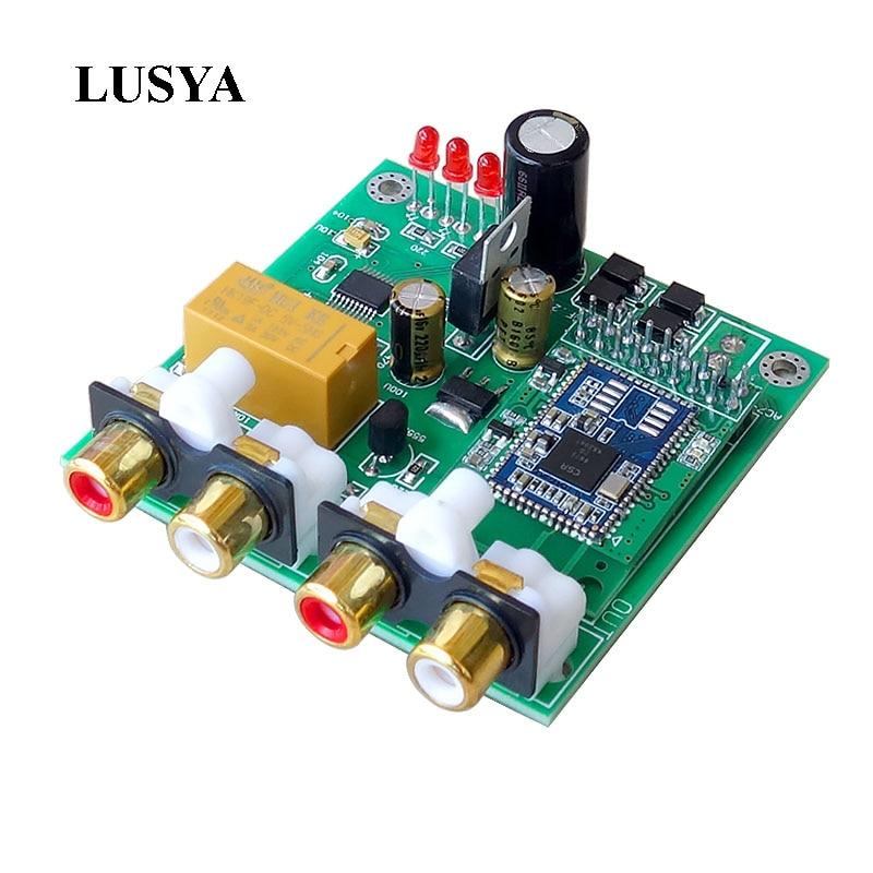 Lusya CSR8675 Bluetooth 5.0 APTX HD Decoder Board DAC Bluetooth Receiver Support Analog Input Output 12V APTX APTX-HD