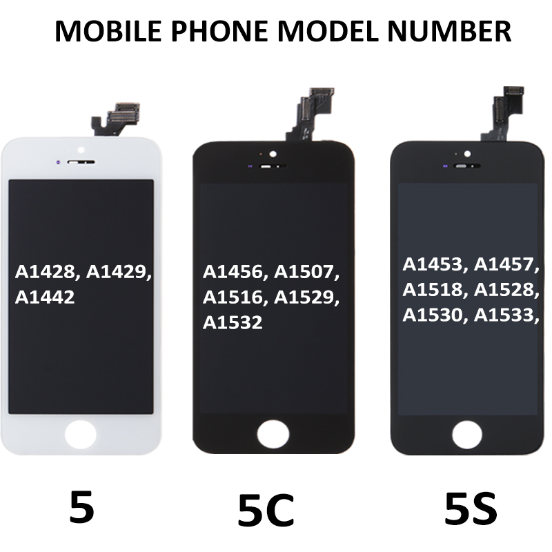Image 5 - Best AAA Display For iPhone 5S 5C 5 LCD Screen Touch Digitizer Assembly Replacement A1453 A1457 No Dead Pixel Spot Free shipping-in Mobile Phone LCD Screens from Cellphones & Telecommunications on