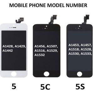 Image 5 - Miglior Display AAA per iPhone 5s 5C 5 schermo LCD Touch Digitizer Assembly sostituzione A1453 A1457 nessun Pixel morto Spot spedizione gratuita