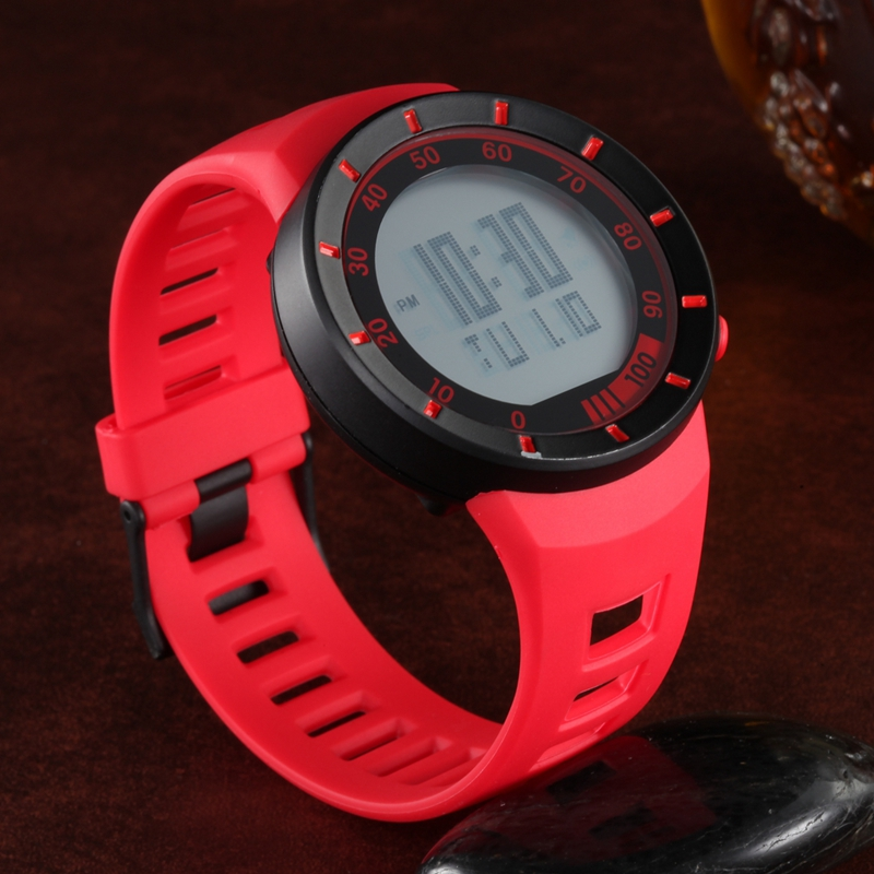 Digitale Uhren Herrenuhren Gerade 2017 Neue Ankunft Ohsen Digitale Unisex Uhr Wasserdichte Outdoor Uhren Sport Uhr Rot Mode-design Armbanduhren Relojoes Geschenk