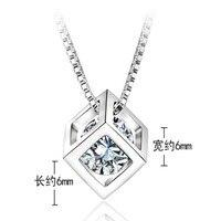 S925 gümüş kolye kadın tatlı sihirli küp kolye zinciri kısa tasarım aksesuarları moda aksesuarları