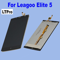 Best Quality Tested Working Black White LCD Display Touch Screen Digitizer Assembly For Leagoo Elite 5
