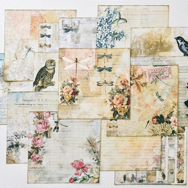 KLJUYP винтажные птицы материал бумажный Набор для скрапбукинга DIY проекты/фотоальбом/карта для ручной работы