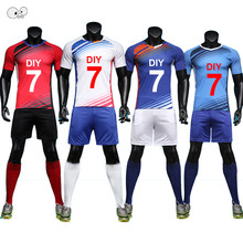 9bd8fb9148be4 Professionnel personnaliser adulte/enfants ensemble de Football respirant  2018 2019 maillots de Football uniformes costumes