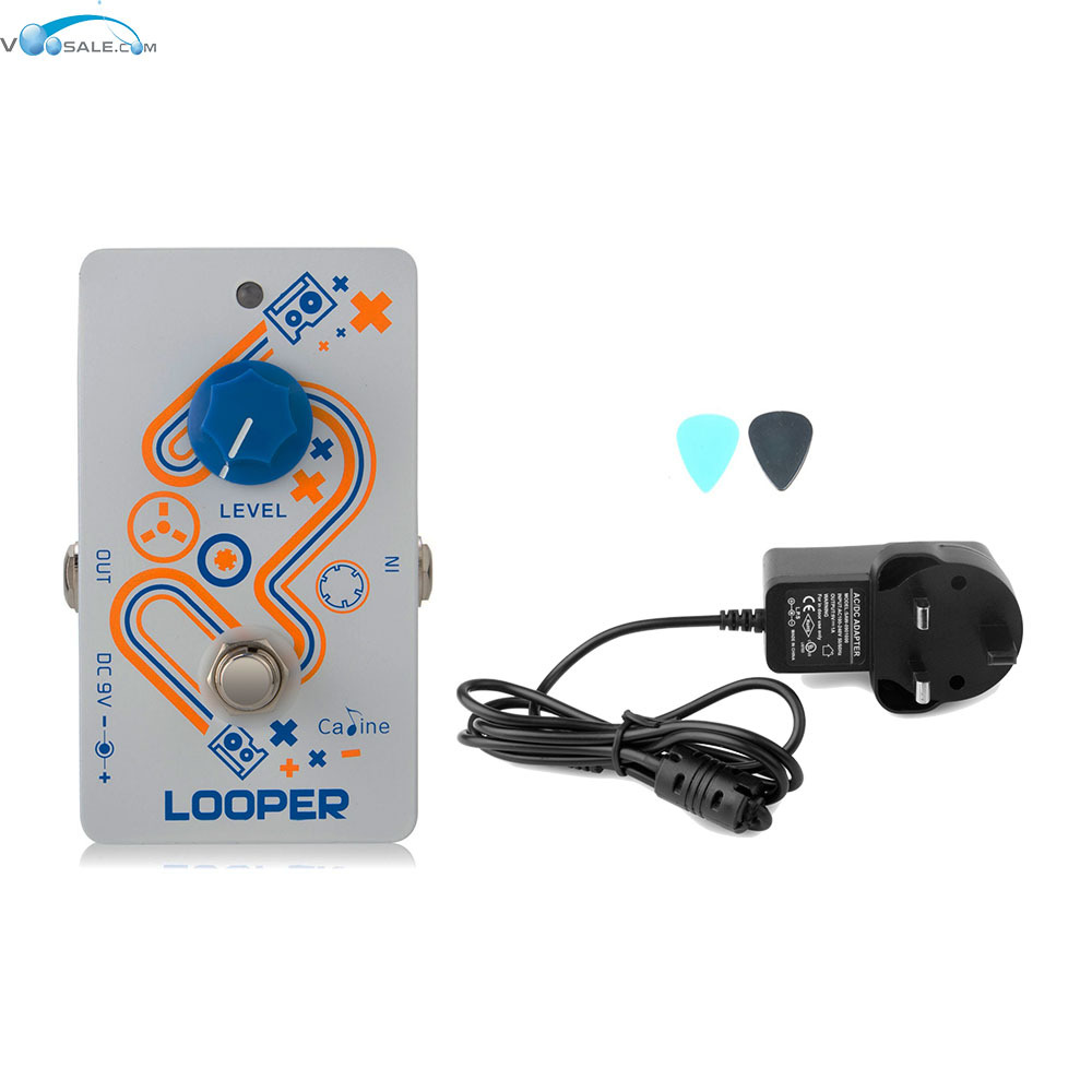 цена на Caline CP-33 Looper Guitar Effect Pedal High Quality Recording Pedal+AC100V-240V to DC9V/1A Adapter Use Have AU UK US EU Plug