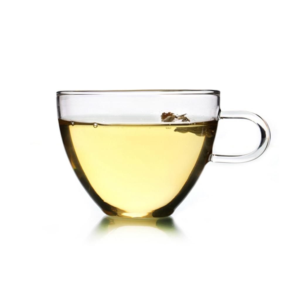 Teetassen Glas 1 pc glass teacup with handle exquisite coffee tea mug office drink
