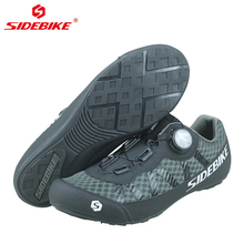 цена SIDEBIKE Breathable Mesh Men Women Road Bike Shoes for Cycling Shoes Ultralight Non-Lock Non-slip Mountain Bicycle MTB Sneaker онлайн в 2017 году