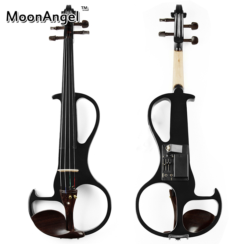 4/4 Black ABS Electric Violin Musical Instruments Good Quality Stringed Instrument Suitable for Beginners and Music Amateurs