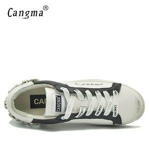 Image 5 - Женские повседневные кроссовки CANGMA со стразами, женские белые кроссовки со стразами, стильная женская обувь
