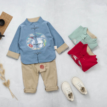 купить 2019 Autumn Baby Girls Boys Clothing Sets Infant Toddler Clothes Suits Cotton Coat Pants  Kids Children Casual Suit дешево