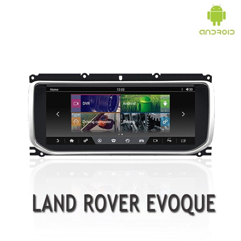 NVTECH multimédia Navigation GPS pour RANGE ROVER EVOQUE tableau de bord Android 7.1 Bluetooth RAM + ROM 2 + 32 GB lecteur 10.25 ''2012-2016