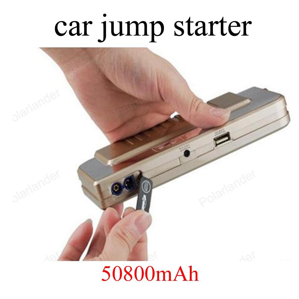 2016 New Ultra thin 50800mAh Car Emergency Starting Power Multi function Jump Starter Car Emergency Power Bank Battery Charger