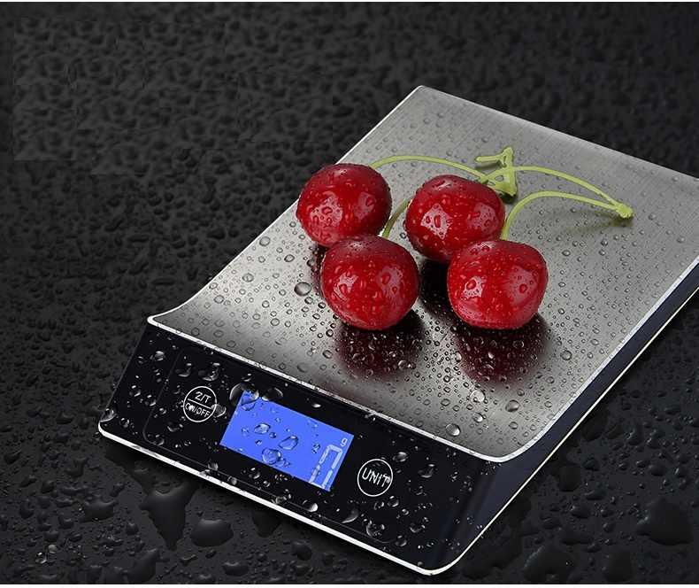 Новые портативные весы из нержавеющей стали 15 кг/1 г, цифровые кухонные весы с ЖК-дисплеем, Электронная почтовая платформа, диетические пищевые весы для выпечки