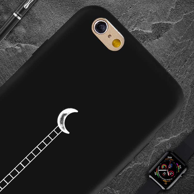 Lüks desenler tasarım telefon kılıfı için iPhone 8 7 6 6S artı X XS MAX XR 10 5S SE siyah kapak silikon yumuşak TPU kılıfları