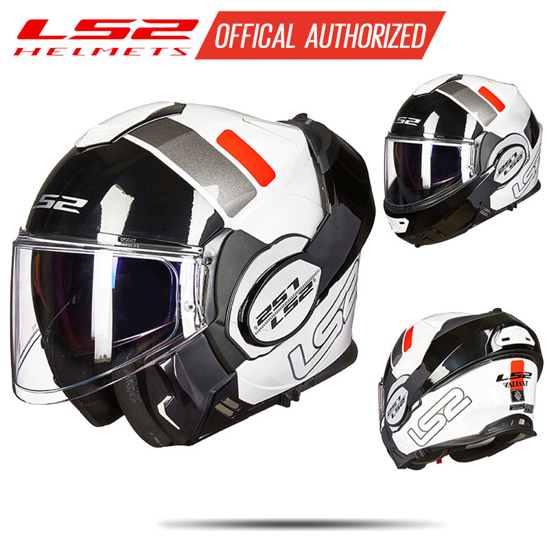LS2 helmet ff399 New Chrome-plated fiip up helmet Wear glasses Full Face Motocycle helmet Anti-fog patch PINLOCK helmet ls2 helmet