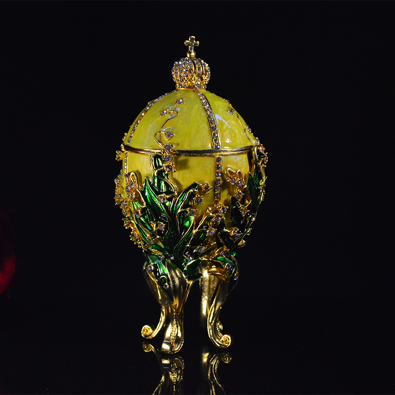 QIFU Yellow Large Faberge Egg Souvenir Gift For Home Decor