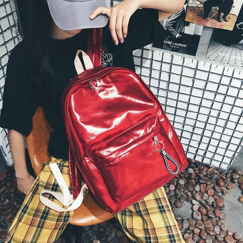 Trend Street Hip Hop Men Women Backpack Waterproof Schoolbag Large Capacity Knapsack Travel Backpack 14-15.6 Inch Laptop Bag Red