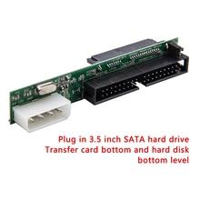 Sata to IDE 어댑터 변환기 1.5Gbs 2.5 Sata Female 3.5 인치 IDE Male 40 핀 포트 지원 ATA 133 100 SSD HDD CD DVD Serial