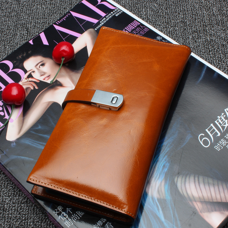 New Wallets Brand Design High Quality Genuine Leather Wallet Hasp Fashion Dollar Price Long Purse Card Holder reiwalker women wallets brand design pu leather purse hasp fashion dollar price long wallets for female