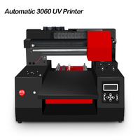 Advance A3 Size LED UV Flatbed Printer Automatic 3060 Inkjet Printers with Print Head for Bottle, Phone Case, Leather, MDF