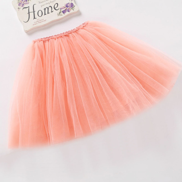 Tutu Skirt In Girl Clothing Dance Ball Gown Candy Lace Color Mini Short Skirts Multilayer Vintage 2017 New Baby Toddlers Clothes