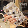 For Meizu M3 Note M3s Crystal Diamond Wallet Flip Leather Case Cover For Meizu M3 MX6 MX5 MX4 Pro 5 Pretty Girl's Happy Life
