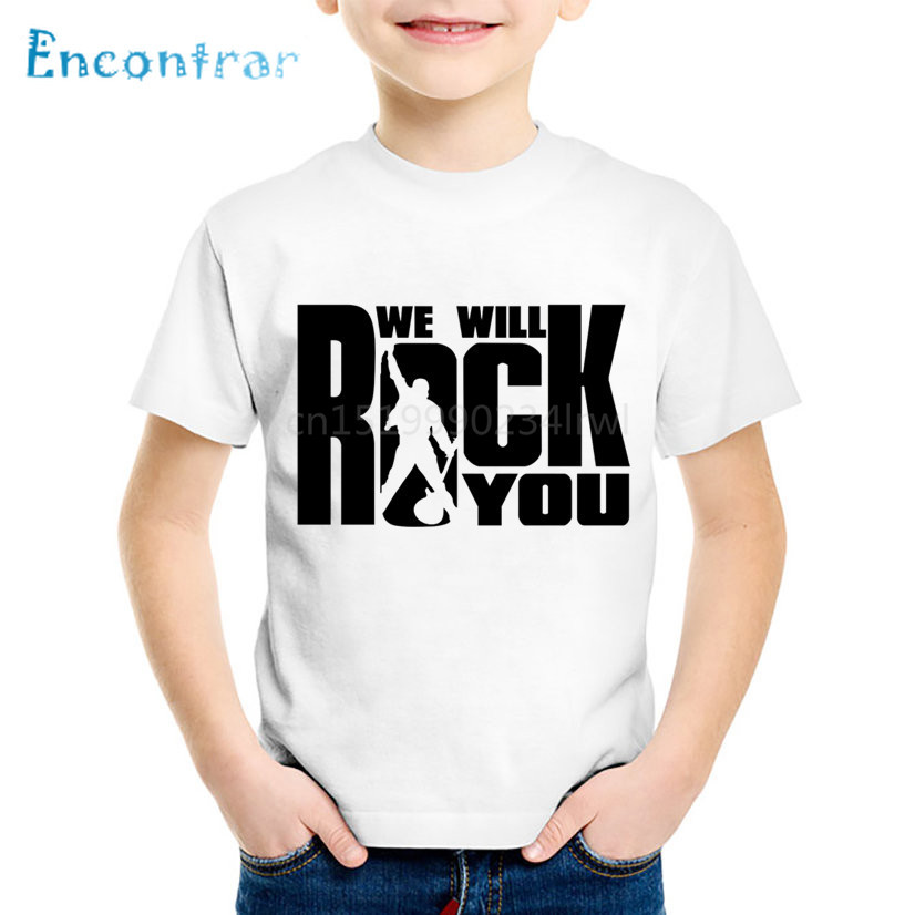 Children Fashion Print We Will Rock You Queen T-shirts Kids Summer Short Sleeve Clothes Boys/Girls Casual Tops Baby Tees,HKP955Children Fashion Print We Will Rock You Queen T-shirts Kids Summer Short Sleeve Clothes Boys/Girls Casual Tops Baby Tees,HKP955