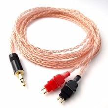 1,5 Mt braid 8 Kerne 5N PCOCC kupfer Kopfhörer Upgrade Kabel für HD580 HD600 HD650 Kopfhörer